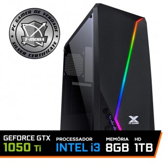 Pc Gamer T-Moba Gladiator LVL-1 Intel I3 9100F / Geforce GTX 1050 TI 4GB / DDR4 8GB / HD 1TB / 500W