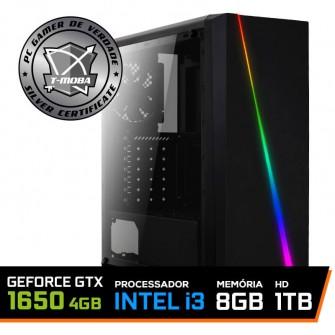 Pc Gamer T-Moba Gladiator LVL-2 Intel I3 9100F / Geforce GTX 1650 4GB / DDR4 8GB / HD 1TB / 500W