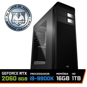PC Gamer T-Power Inferno LVL-1 Intel I9 9900k / Geforce RTX 2060 6GB / DDR4 16GB / HD 1TB / 600W