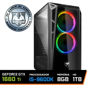 Pc Gamer T-power Glorious Edition Intel I5 9600k / Gtx 1660 Ti 6gb / DDR4 8Gb / Hd 1tb / 600W