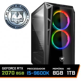PC GAMER T-Power Edition Intel I5 9600k / RTX 2070 8GB / DDR4 8Gb / HD 1TB / 600W