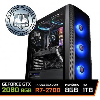 Pc Gamer T-power Edition Amd Ryzen 7 2700 / Rtx 2080 8gb / DDR4 8GB / Hd 1tb / 600W