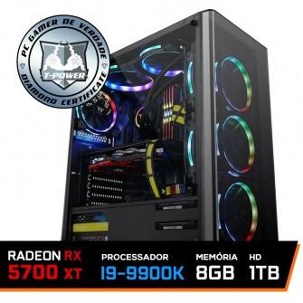 PC Gamer T-Power Special Edition Intel I9 9900K 3.60GHz / Radeon NAVI RX 5700 XT 8GB / 8GB DDR4 / HD 1TB / 600W