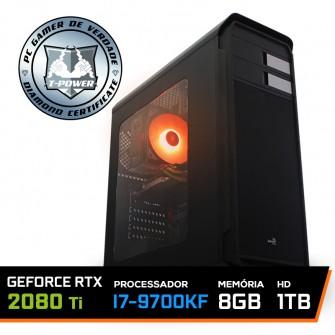 Pc Gamer T-power Special Edition Intel I7 9700KF 3.60GHz / GeForce RTX 2080 Ti 11Gb / 8Gb DDR4 / Hd 1Tb / 600W