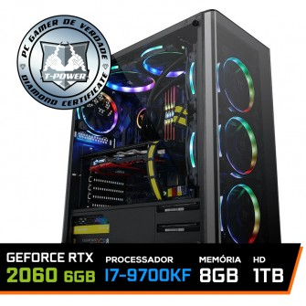 PC Gamer T-Power Special Intel I7 9700KF 3.60GHz / GeForce RTX 2060 6GB / 8GB DDR4 / HD 1TB / 600W