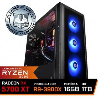 Pc Gamer T-Power Stormbreaker Lvl-4 AMD Ryzen 9 3900X / Radeon NAVI RX 5700 XT 8GB / DDR4 16GB / HD 1TB / 700W / RZ3