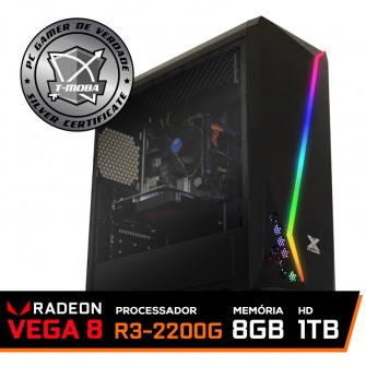 Pc Gamer T-Moba Dominator LVL-1 AMD Ryzen 3 2200G / DDR4 8GB / HD 1TB