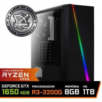Pc Gamer T-Moba Super Dominator LVL-6 AMD Ryzen 3 3200G / Geforce GTX 1650 4GB / DDR4 8GB / HD 1TB / 500W / RZ3