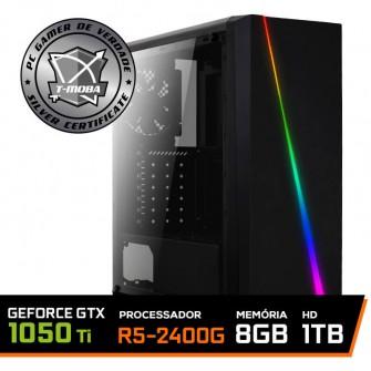 Pc Gamer T-moba Ultimate LVL-2 AMD Ryzen 5 2400G / Geforce GTX 1050 Ti 4GB / DDR4 8GB / HD 1TB / 500W