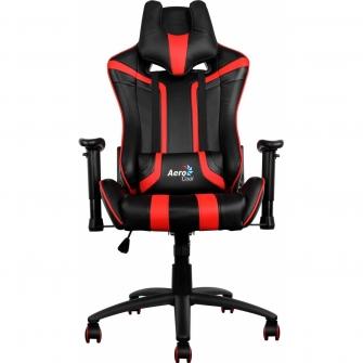 Cadeira Gamer Aerocool AC120-BR Preta/Vermelha
