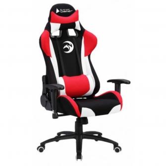 Cadeira Gamer Bluecase Saturnus, White-Red-Black, BCH-34WRBK