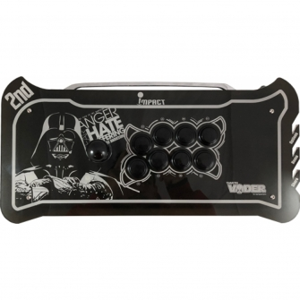 Controle Arcade para PC, PS3 e PS4 2ND Impact Darth Vader Full Acrílico Manche Optico Silent