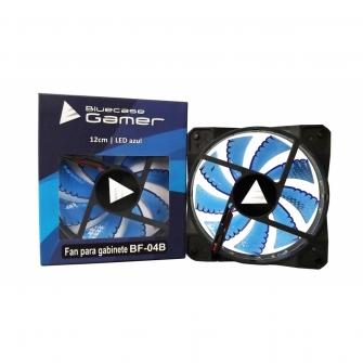 Cooler para Gabinete Bluecase Gamer BF-04B LED Azul 120mm