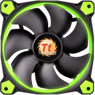 Cooler Thermaltake Riing 12 LED Green CL-F038-PL12GR-A