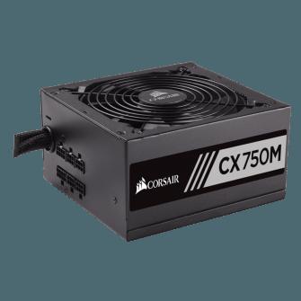 Fonte Corsair CX750M 750W, 80 Plus Bronze, PFC Ativo, Semi Modular, CP-9020061-WW