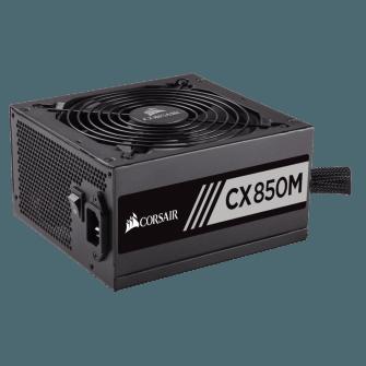 Fonte Corsair CX850M 850W, 80 Plus Bronze, PFC Ativo, Semi Modular, CP-9020099-WW