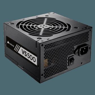 Fonte Corsair VS500 500W, 80 Plus White, PFC Ativo, CP-9020118-LA