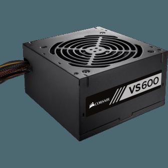 Fonte Corsair VS600 600W 80 Plus White, PFC Ativo, CP-9020119-LA