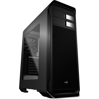 Gabinete Gamer Aerocool Aero 500, Mid Tower, Com 1 Fan, Black, S-Fonte