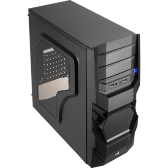 Gabinete Gamer Aerocool Cyclops Black Edition, Mid Tower, Com 1 Fan