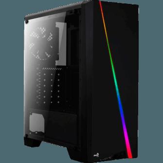 Gabinete Gamer Aerocool Cylon RGB, Black, Mid Tower, Com 1 Fan