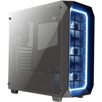 Gabinete Gamer Aerocool Project 7 Pro RGB, Mid Tower, Com 4 Fans