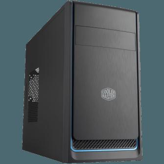 Gabinete Gamer Cooler Master Masterbox E300L, Mid Tower, Com 1 Fan, Black, S-Fonte, MCB-E300L-KN5N-B01-Blue
