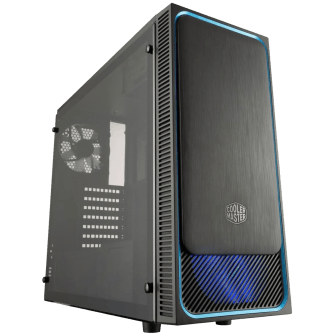 Gabinete Gamer Cooler Master MASTERBOX E500L, Mid Tower, Com 2 Fans