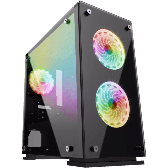 Gabinete Gamer Gamemax, Mid Tower, Com 3 Fans RGB