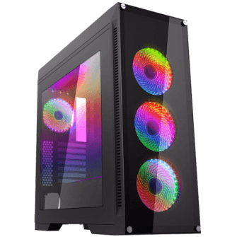 Gabinete Gamer Gamemax Rainbow M911 RGB, Mid Tower, Com 3 Fans