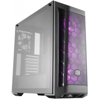 Gabinete Gamer Cooler Master Masterbox MB511 RGB Mid Tower Com 4 Fan Black S-Fonte