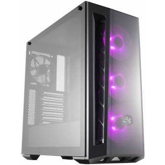 Gabinete Gamer Cooler Master Masterbox MB520 RGB, Mid Tower, Com 4 Fan, Black, S-Fonte, MCB-B520-KGNN-RGB