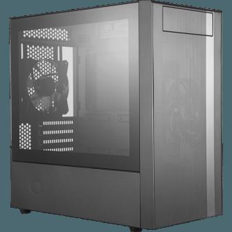 Gabinete Gamer Cooler Master MasterBox NR400, Mini Tower, Com 2 Fan, Black, S-Fonte, MCB-NR400-KG5N-S00