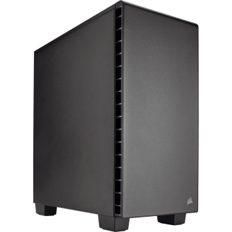 Gabinete Gamer Corsair Carbide Quiet 400Q, Mid Tower, Com 2 Fans, Black, S-Fonte, CC-9011100-WW
