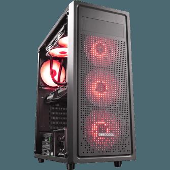 Gabinete Gamer DeepCool E-Shield Mid Tower Com 1 Fan Back S-Fonte