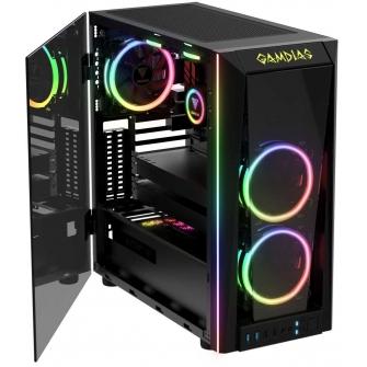 Gabinete Gamer Gamdias Talos M1A, Mid Tower Com 2 Fans RGB Vidro Temperado
