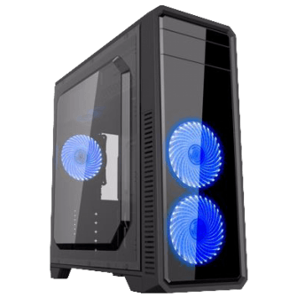 Gabinete Gamer Gamemax ECO G561 Plus, Mid Tower, Com 3 Fans Blue