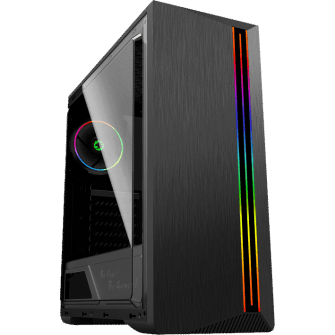 Gabinete Gamer Gamemax Shine G517 Mid Tower Com 1 Fan Vidro Temperado Black S-Fonte