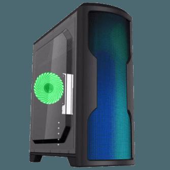 Gabinete Gamer Gamemax Wave G562W Mid Tower Com 1 Fan Green