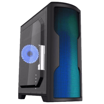 Gabinete Gamer Gamemax Wave G562W Mid Tower Com 1 Fan Lateral em Acrílico Black S-Fonte
