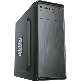 Gabinete Gamer Liketec Office Steel Mid Tower S/Fan Black S-Fonte