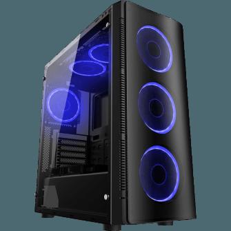 Gabinete Gamer Liketec W1 Artic Vidro Temperado LED Azul Mid Tower S/Fonte