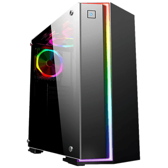 Gabinete Gamer K-mex Fox RGB, Mid Tower, Com 1 Fan
