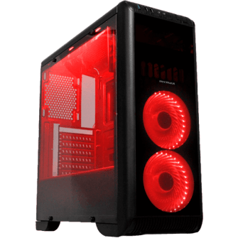 Gabinete Gamer Mymax Tornado, Mid Tower, Com 2 Fans Red