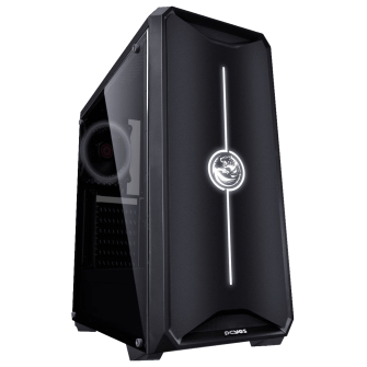 Gabinete Gamer PCyes Nova, Mid Tower, Com 1 Fan