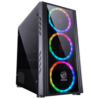 Gabinete Gamer PCyes Saturn, Mid Tower, Com 3 Fans