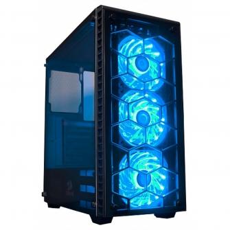 Gabinete Gamer Redragon Diamond Storm, Mid Tower, Com 3 Fans RGB, Vidro Temperado, Black, S-Fonte, CA903
