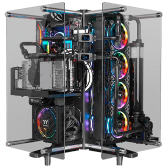 Gabinete Gamer Thermaltake Core P90, Mid Tower, Vidro Temperado, Black, S-Fonte, CA-1J8-00M1WN-00