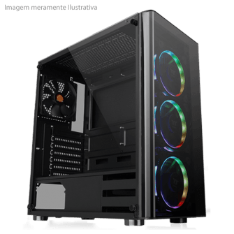 Gabinete Gamer Thermaltake V200, Mid Tower, Com 1 Fan
