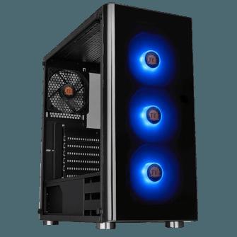 Gabinete Gamer Thermaltake V200 RGB, Mid Tower, Com 4 Fans